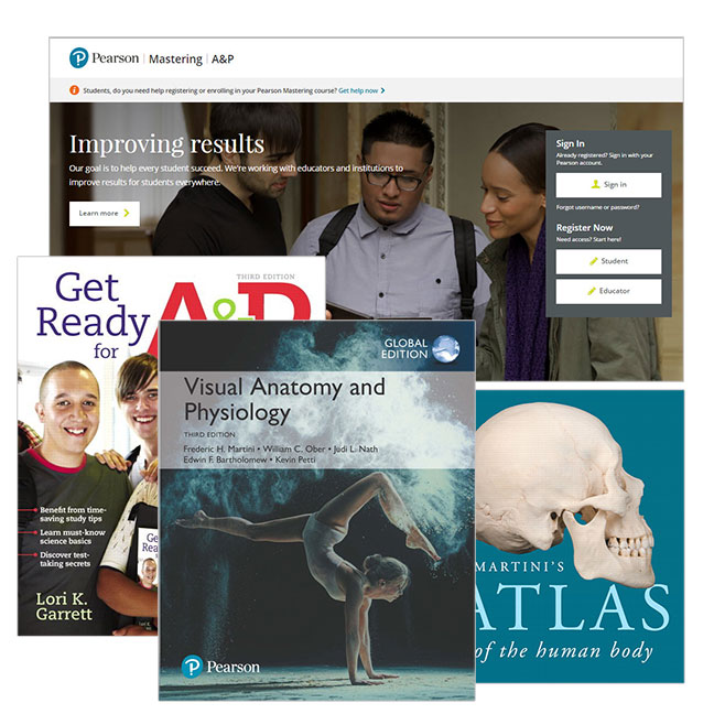 Visual Anatomy & Physiology, Global Edition + Atlas of the Human Body + Get Ready for A&P + Modified Mastering A&P with eText