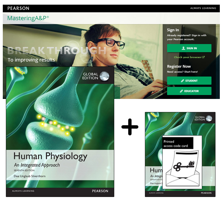 Value Pack Human Physiology: An Integrated Approach, Global Edition plus Mastering A & P with eText