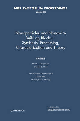 Nanoparticles and Nanowire Building Blocks - Synthesis, Processing, Characterization and Theory
