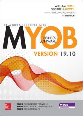 Computer Accounting using MYOB Business Software v19.10 - 14th Edition