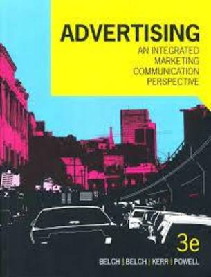 Advertising An Integrated Marketing Communications Perspective 3rd Edition