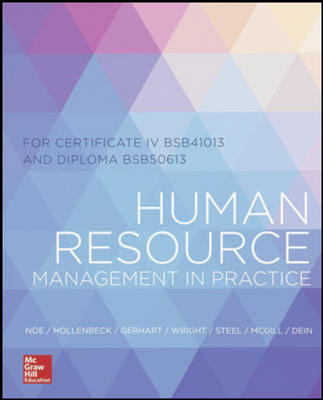 Human Resources Mangement in Practice for Certificate IV and Diploma