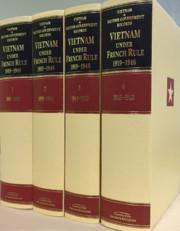 Vietnam under French Rule 1919-1946 4 Hardbacks Volume Set