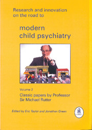 Research and Innovation on the Road to Modern Child Psychiatry: Volume 2