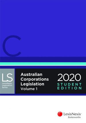 Australian Corporations Legislation 2020 - Student Edition