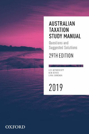 Australian Taxation Study Manual 2019