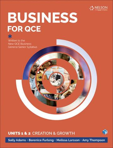 Business for QCE: Units 1 & 2: Creation and Growth Student Book with 1  Access Code for 26 Months