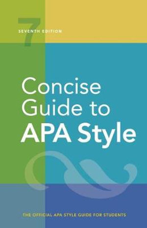 Concise Guide to APA Style 7ed