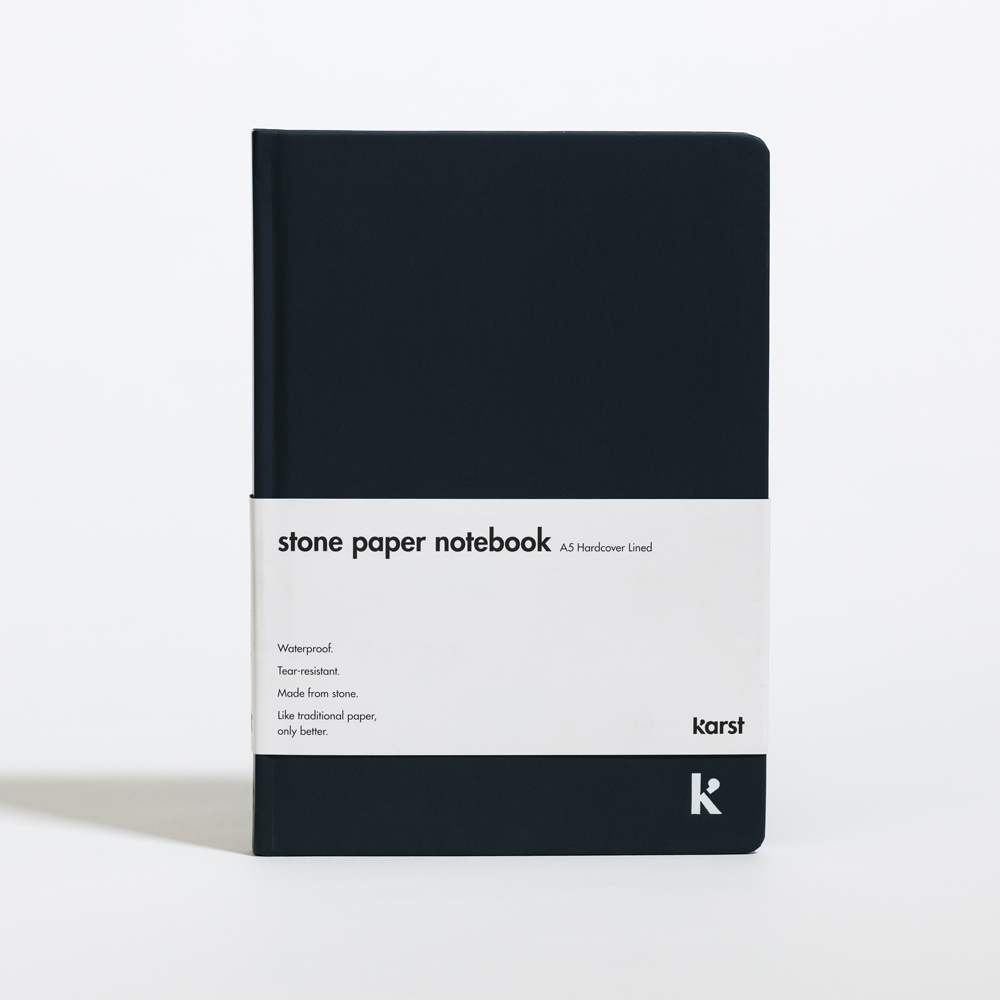 Karst Lined Hardcover A5 Notebook Navy