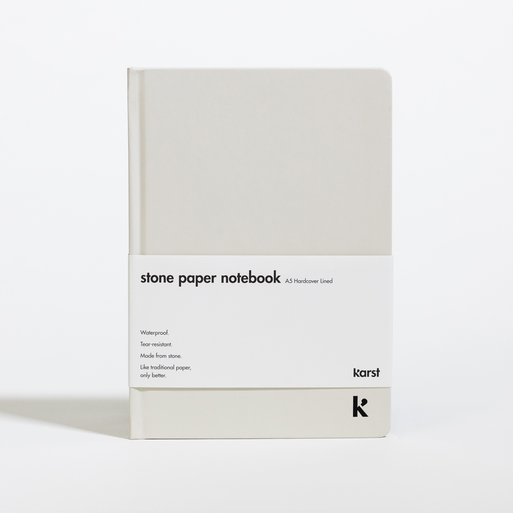 Karst Lined Hardcover A5 Notebook Stone