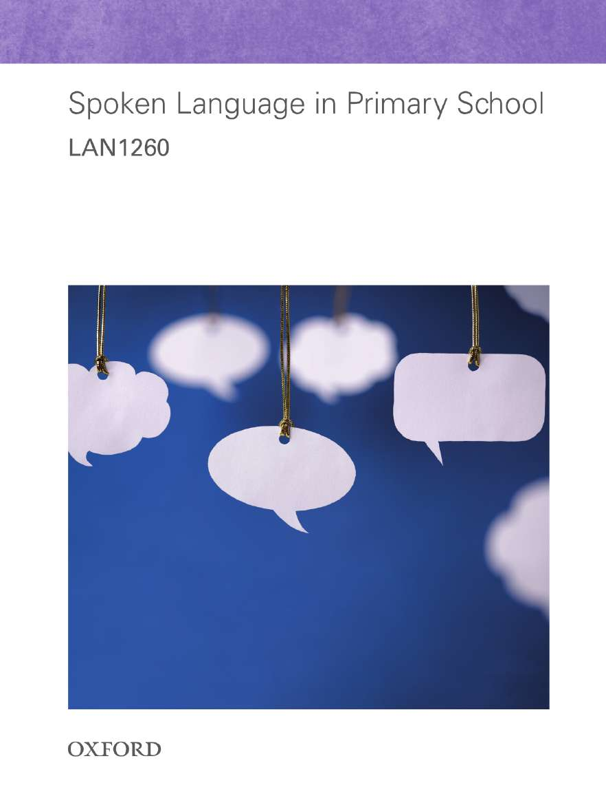 LAN1260 Spoken Language in Primary School