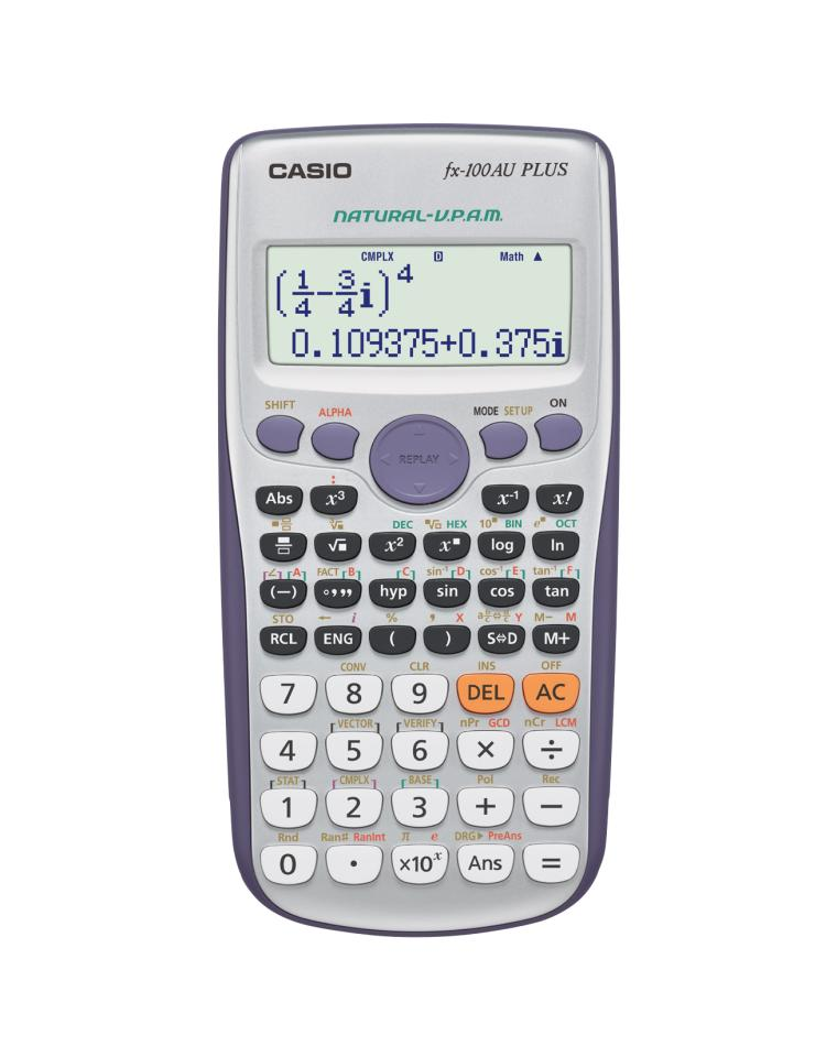 Casio Fx100Auplus Scientific Calc 10+2 Digit Display