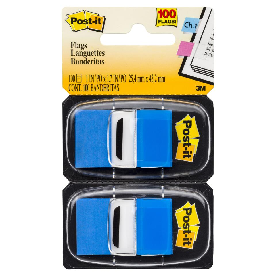 Post-It Flags 680-Be2 25.4 X 43.2mm Blue