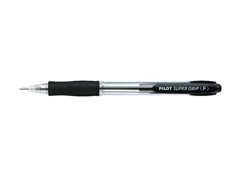 Pilot BPGP 10-R Supergrip Retractable Ballpoint Pen Fine 0.7mm Black