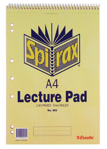 Spirax 905 Lecture Book A4 Top Opening 140 Pages
