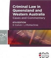 Criminal Law in QLD & WA - 6e + Carters Criminal Law in QLD - 19e ( valuepack )