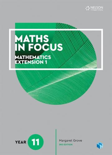 Maths in Focus 11 Mathematics Extension 1 Student Book with 1 Access Codes