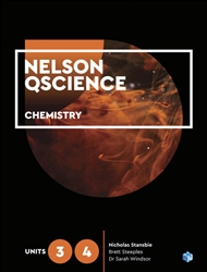 Nelson QScience Chemistry Units 3 & 4 Student Book with 1 Access Code