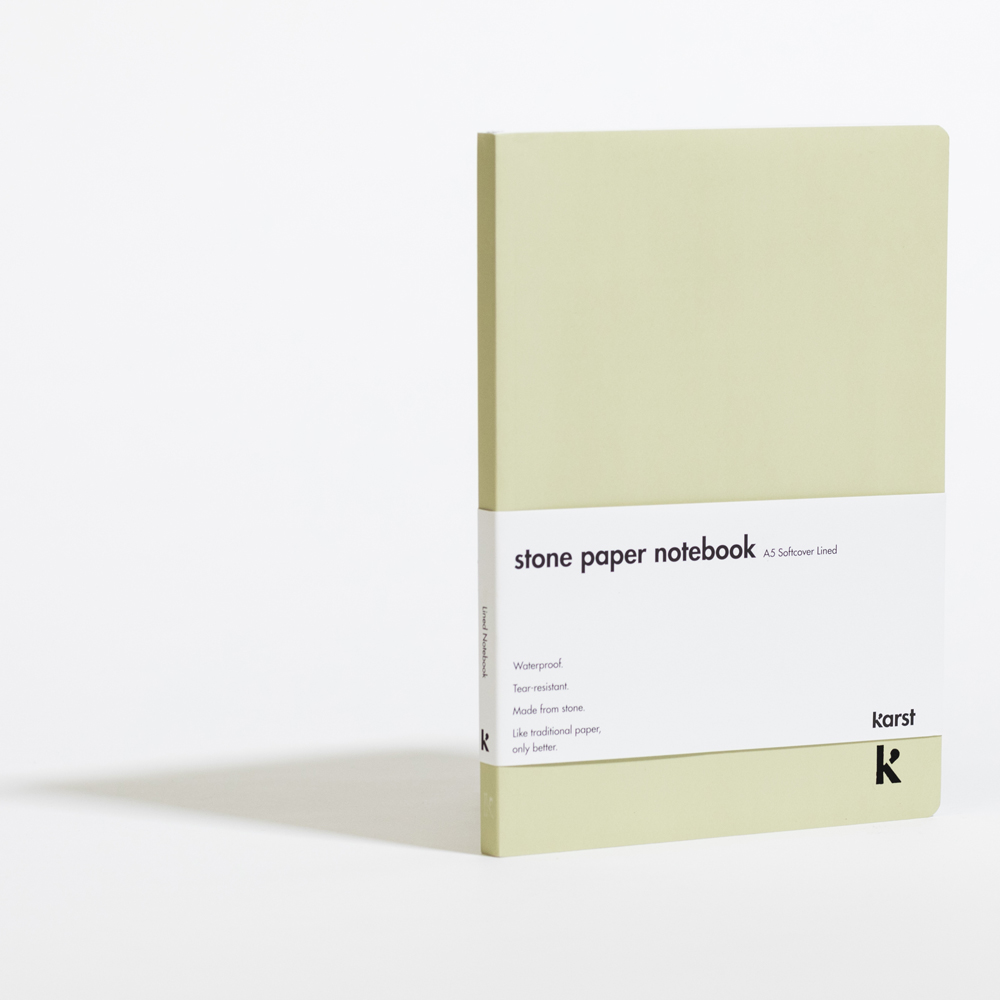Lined Softcover A5 Notebook Sage