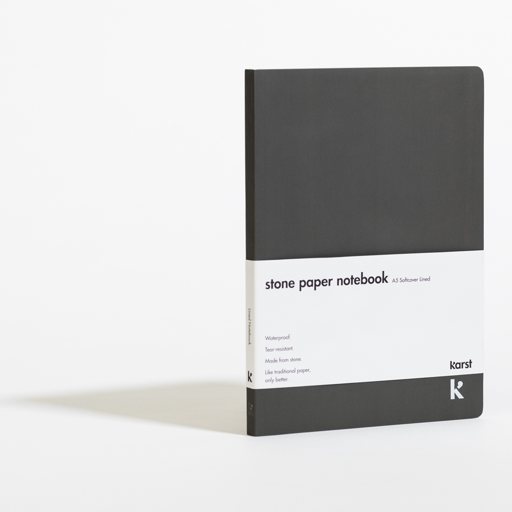 Lined Softcover A5 Notebook Slate