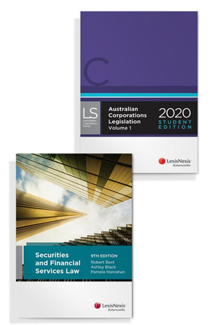 Securities and Financial Services Law, 9th edition and Australian Corporations Legislation 2020 - Student Edition (Bundle)