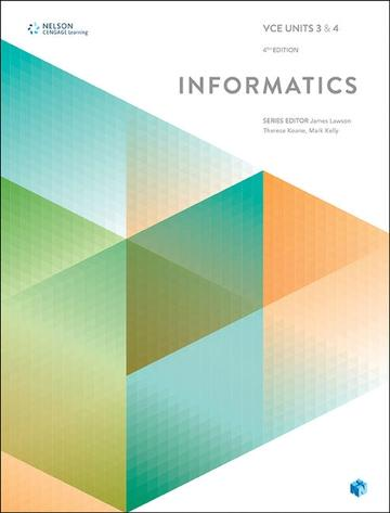 VCE Informatics Units 3 & 4 (Student Book with 4 Access Codes)
