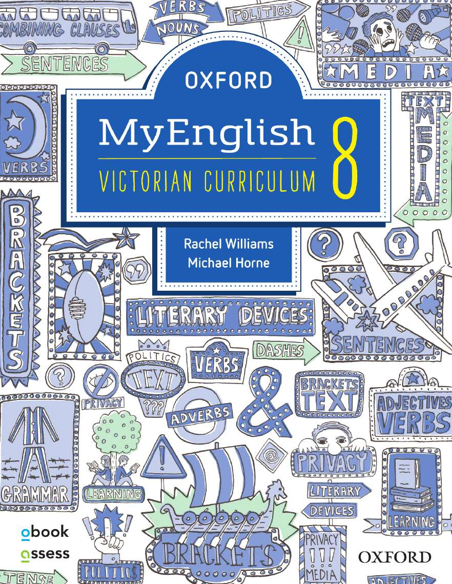 Oxford MyEnglish 8 Victorian Curriculum Student book + obook assess + Upskill