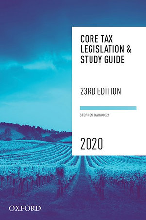 Core Tax Legislation and Study Guide 2020