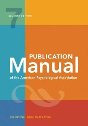 Publication Manual of the American Psychological Association 7ed (apa 7th)