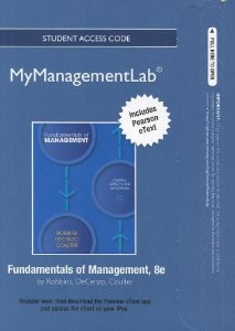 Management + MyManagementLab Student Access Code Card