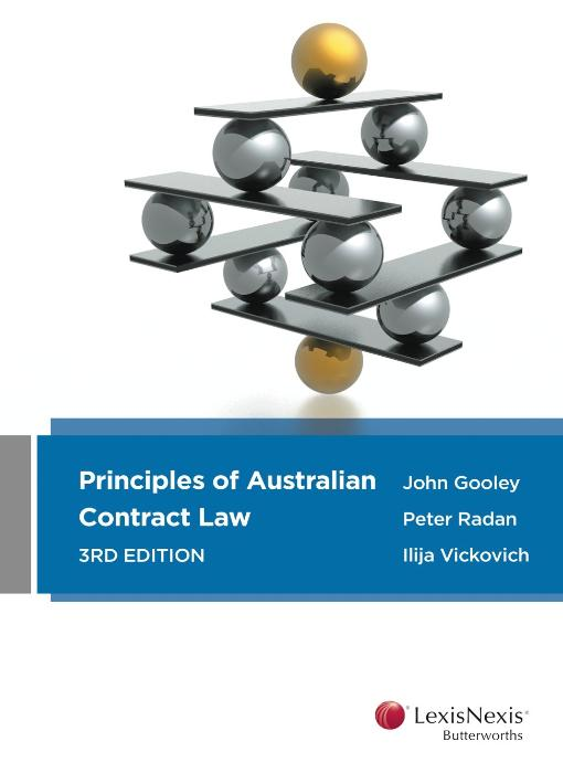 Principles of Australian Contract Law 3E + Principles of Australian Contract Law Cases & Materials 2E