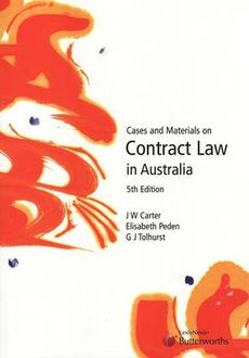 CONTR12 - Contract Law in Australia  / Cases and Materials on Equity and Trusts