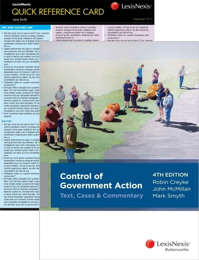 ADMIN3S12016 - Control of Government Action 4th Edition + QRC: Administrative Law 2nd Edition