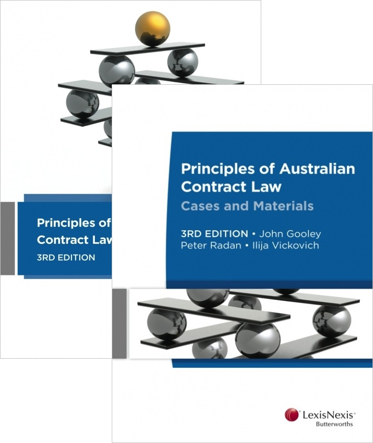 Principle Of Australian Contract Law 3rd Edition + Principles Of Australian Contract Law Cases & Materials 3rd Edition