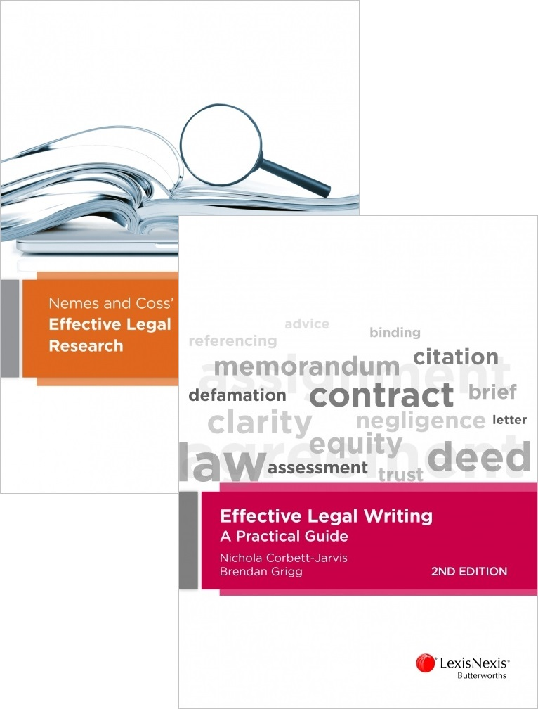 Nemes & Coss Effective Legal Research 6th Edition + Effective Legal Writing 2nd Edition (Bundle)