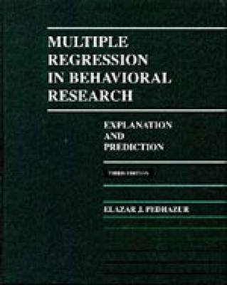 Multiple Regression in Behavioral Research