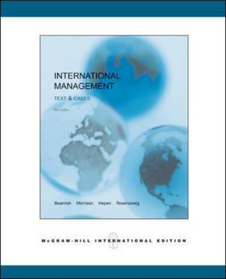 INTERNATIONAL MANAGEMENT:TEXT and CASES 5E
