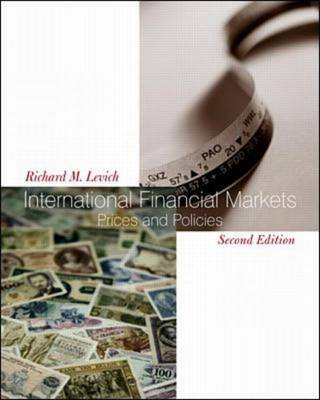 International Financial Markets: Prices and Policies