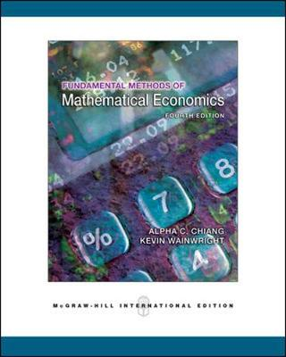 Fundamentals Methods Mathl Economics 4E