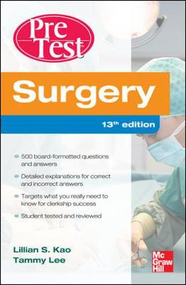 Surgery Pretest Self-Assessment And Review 13/E