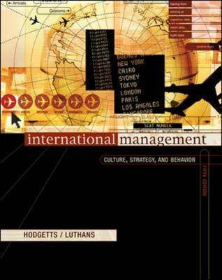 International Management: Culture, Strategy, and Behavior: With World Map