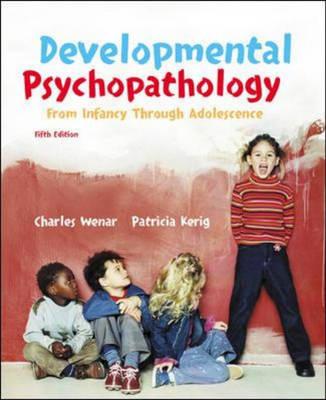 Developmental Psychopathology