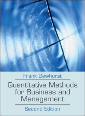 Quantitative Methods For Business N Mgmt