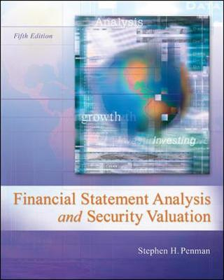 Financial Statement Analyis And Security Valuation