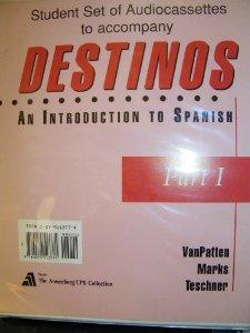 Destinos Stdt Set 13 Cs Pti: Introduction to Spanish: Set of 13 Audio Cassettes