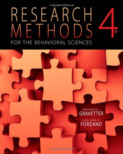 Bundle:Research Methods for the Behavioral Sciences + Aplia Notification Card