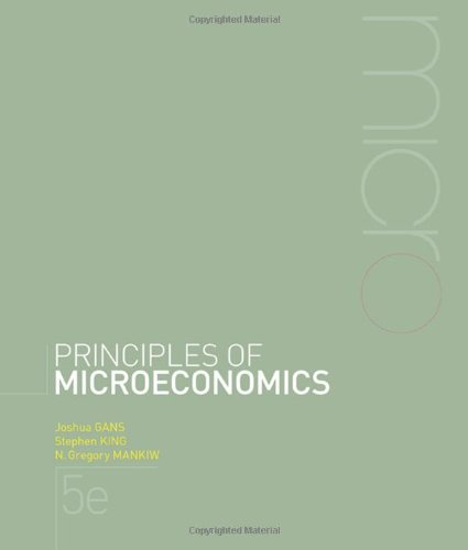 Principles of Microeconomics + Aplia Notification Card