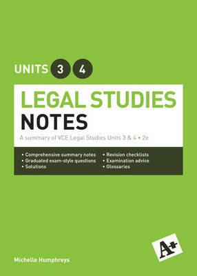 Legal Notes VCE Units 3 and 4