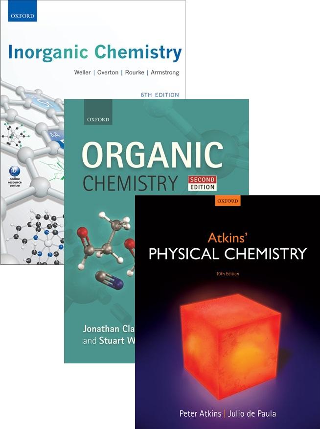 Physical Chemistry 10e, Inorganic Chemistry 6e & Organic Chemistry 2e Value Pack