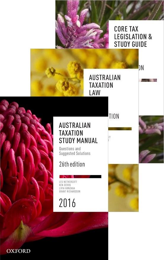 Core Student Tax Pack 6 June 2016 (Aust Tax Law 26E + Aust Tax Study Manual 26E + Core Tax Legislation & Study Guide 2016)